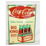 20X28 1959 COKE FISHTAIL SIGN