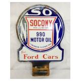 VIEW 2 OTHERSIDE SOCONY FORD CARS PUMP SIGN