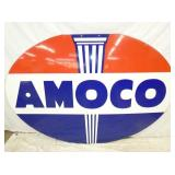 48X72 PORC. DOUBLE SIDED AMOCO SIGN