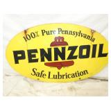 18X31 1971 PENNZOIL DOUBLE SIDED SIGN