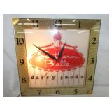 16IN SOUTHERN BELLE LIGHTED CLOCK