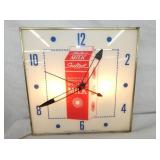 15IN SEALTEST MILK LIGHTED CLOCK