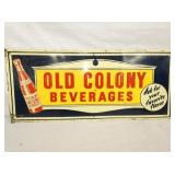 12X28 1941 EMB. OLD COLONY BEV. SIGN