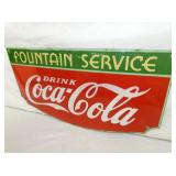 VEIW 2 CLOSEUP PORC. COKE FOUNTAIN SIGN