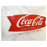 VEIW 2 LEFTSIDE PORC. COKE SIGN FISHTAIL SIGN