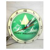 15IN DOUBLE BUBBLE PINE STATE CLOCK