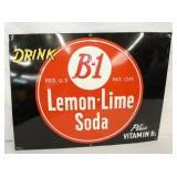 16X23 EMB. B-1 LEMON LIME SODA SIGN