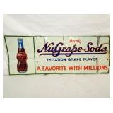12X30 EMB. NUGRAPE SODA SIGN