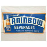 12X24 EMB. RAINBOW BEVERAGES SIGN