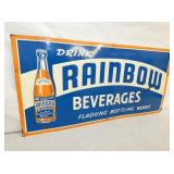 VEIW 2 EMB. RAINBOW BEV. SIGN W/ BOTTLE