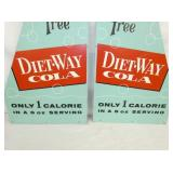 VIEW 2 CLOSEUP 2PC DIET WAY COLA SIGN