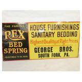 12X24 EMB. REX BED SPRING SIGN