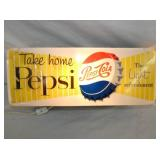 7X16 PEPSI COLA LIGHTED SIGN