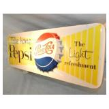 VIEW 2 CLOSEUP PEPSI COLA LIGHTUP SIGN