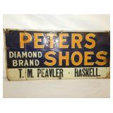9X19 EMB. PETERS SHOES SIGN