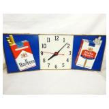 11X28 MARLBORO LIGHTED CLOCK