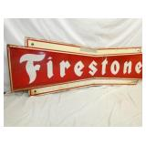VIEW 2 CLOSEUP FIRESTONE BOWTIE SIGN