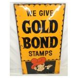 34X56 EMB. GOLD BOND STAMPS SIGN