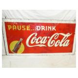 36X72 PAUSE DRINK COKE SIGN