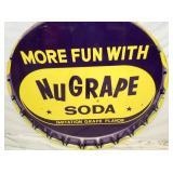 VIEW 2 CLOSEUP NUGRAPE SODA CAP SIGN