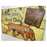 VIEW 2 CLOSEU RIGHTSIDE BLOODHOUND SIGN