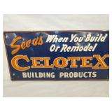 12X24 EMB. CELOTEX PRODUCTS SIGN