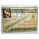 13X20 EMB. STAR STEEL SIGN