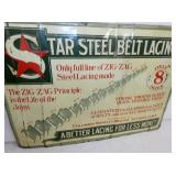 VIEW 2 CLOSEUP STAR STEEL BELT SIGN