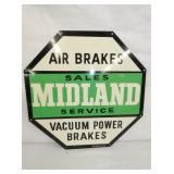 16IN MIDLAND BRAKES SIGN