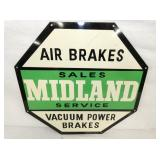 VIEW 2 CLOSEUP MIDLAND AIR BRAKES SIGN