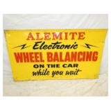 33X56 EMB. ALEMITE WHEEL BALANCING SIGN