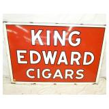 47X70 PORC. KING EDWARDS CIGAR SIGN