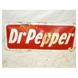 12X29 BUBBLE EMB. DR. PEPPER SIGN