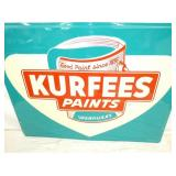 VIEW 2 CLOSE UP NOS KURFEES PAINTS SIGN