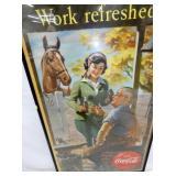 VIEW 2 CLOSE UP COCA COLA CARDBOARD W/HORSE
