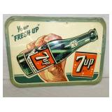 20X27 1947 RARE EMB. 7-UP SIGN