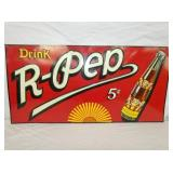 17X36 EMB. 5 CENT R-PEP SIGN
