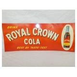 11X27 EMB. ROYAL CROWN COLA SIGN