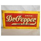 6X12IN. EMB. DR. PEPPER SIGN