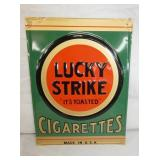 10X13 EMB. LUCKY STRIKE SIGN