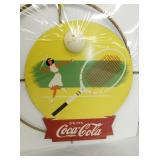 VIEW 2 CLOSE UP COCA COLA TENNIS SPINNER SIGN