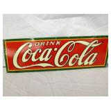 6X18 EARLY EMB. COCA COLA SIGN