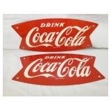 (2) 5X12 COKE FISHTAIL SIGNS