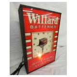 VIEW 2 LEFT LIGHTED WILLARD BATTERY CLOCK