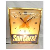 13X17 SUN CREST LIGHTED CLOCK