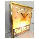 VIEW 2 LEFT SIDE SUN CREST LIGHTED CLOCK