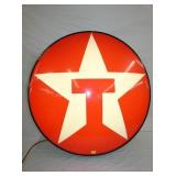34IN. LIGHTED TEXACO SIGN