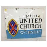 24X30 PORC. UNITED CHURCH SIGN