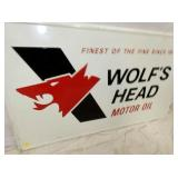 VIEW 2 CLOSE UP WOLFS HEAD EMB. SIGN