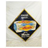46X46 1951 MERITA BREAD DIAMOND SIGN